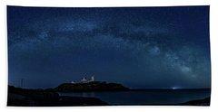 Milky Way Over Nubble Beach Towel