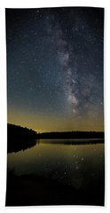 Milky Way Over Price Lake Beach Towel