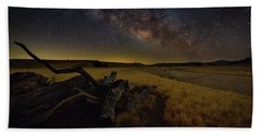 Milky Way Over The Canyon  Ranch Beach Towel