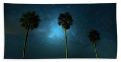 Milky Way Planet Beach Towel by Mark Andrew Thomas