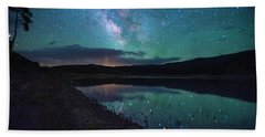 Milky Way Reflections Beach Towel