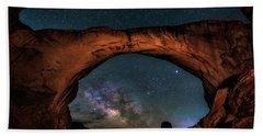 Milky Way Under The Arch Beach Towel