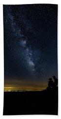 Milky Way Viewed From Rough Ridge Beach Towel