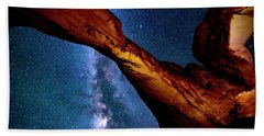 Milkyway At Arches Beach Towel
