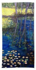 Mill Brook Kingston N H Beach Towel