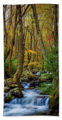 Mill Creek In Fall #1 Beach Towel
