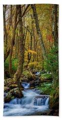 Mill Creek In Fall #1 Beach Sheet