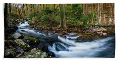 Mill Creek In Fall #2 Beach Towel