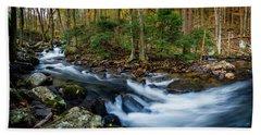Mill Creek In Fall #2 Beach Sheet