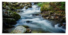 Mill Creek In Fall #3 Beach Towel