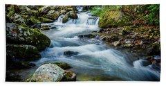 Mill Creek In Fall #3 Beach Sheet