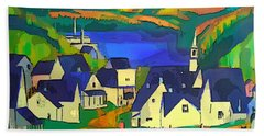 Mill Town, Quebec Beach Towel
