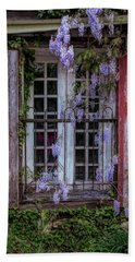 Mill Window Framed By Wisteria  Beach Towel