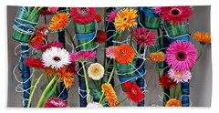 Millefiori Beach Towel by AmaS Art