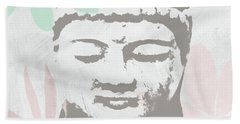 Millennial Buddha- Art By Linda Woods Beach Towel