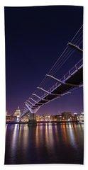 Millennium Bridge At Night  Beach Towel