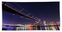 Millennium Bridge London  Beach Towel by Mariusz Czajkowski