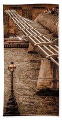 London, England - Millennium Bridge Beach Towel