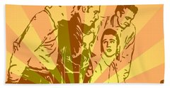 Million Dollar Quartet Pop Art Beach Sheet by Dan Sproul