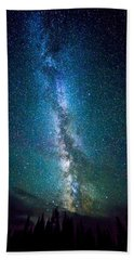 Millky Way Over Lodgepole Pines Beach Towel