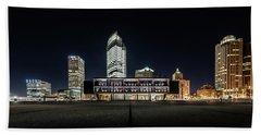 Beach Towel featuring the photograph Milwaukee County War Memorial Center by Randy Scherkenbach