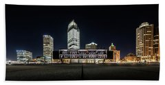 Beach Sheet featuring the photograph Milwaukee County War Memorial Center by Randy Scherkenbach