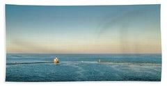 Beach Sheet featuring the photograph Milwaukee Harbor by Randy Scherkenbach
