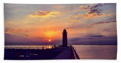 Milwaukee Lighthouse Beach Towel by Nikki McInnes