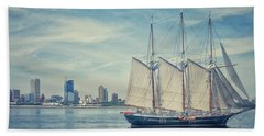 Milwaukee Schooner Beach Towel by Nikki McInnes