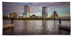Milwaukee Skyline Beach Towel