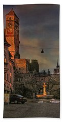Beach Towel featuring the photograph Main Square by Hanny Heim