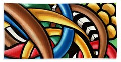 Mind Games - Abstract Energy Painting Beach Towel