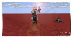 Minecraft Knight Beach Sheet