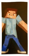Minecraft Steve Beach Towel