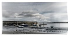 Minehead Harbour Somerset England Beach Towel