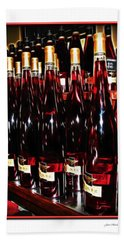 Beach Sheet featuring the photograph Miner Pink Sparkling Wine by Joan  Minchak