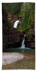 Beach Towel featuring the photograph Mineral Creek Falls by Steve Stuller