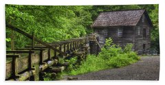 Beach Towel featuring the photograph Mingus Mill 2 Mingus Creek Great Smoky Mountains Art by Reid Callaway