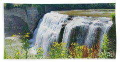 Beach Towel featuring the photograph Mini Falls by Raymond Earley