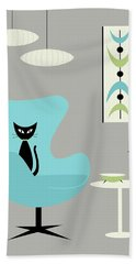 Mini Mobile Turquoise And Green Beach Towel