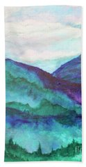 Mini Mountains Majesty Beach Towel