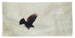 Minimalistic Bird In Flight  Beach Towel by Aimelle