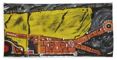 Beach Towel featuring the painting  Coal Mining  by Jeffrey Koss