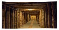 Mining Tunnel Beach Towel