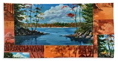 Mink Lake Looking North West Beach Towel