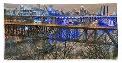 Minneapolis Bridges Beach Towel by Craig Voth