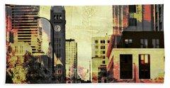 Minneapolis Clock Tower Beach Sheet