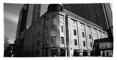 Beach Towel featuring the photograph Minneapolis Downtown Bw by Frank Romeo