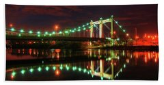 Minneapolis Skyline Hennepin Avenue Bridge Beach Sheet