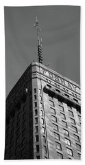 Beach Towel featuring the photograph Minneapolis Tower 6 Bw by Frank Romeo